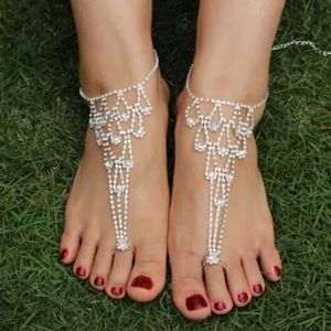 Shoes - Bridal or Party Sparkling Crystal Wedding Sandals